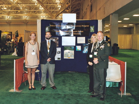 Jana Johnson (UWG), Dan Ryan (PVPLC), Danielle Flynn (Navy), Maj. Jason Pike (DLA) at White House Conference on Cooperative Conservation